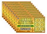 Larkmo Prank Gag Fake Lottery Tickets - 10 Total Tickets, All Same Design, These Lottery Ticket Scratch Off Cards Look Super Real Like A Real Scratcher Joke Lotto Ticket, Win 10,000