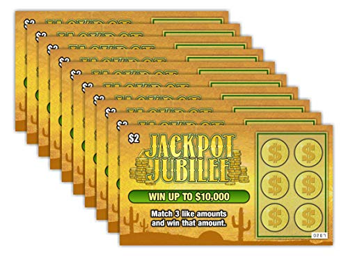 Larkmo Prank Gag Fake Lottery Tickets - 10 Total Tickets, All Same Design, These Lottery Ticket...