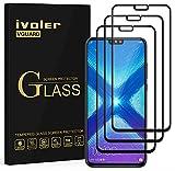 ivoler [3 Unidades] Protector de Pantalla para Huawei Honor 9X Lite/Huawei Honor 8X, [Cobertura Completa] Cristal Vidrio Templado Premium, [Dureza 9H] [Anti-Arañazos] [Sin Burbujas]