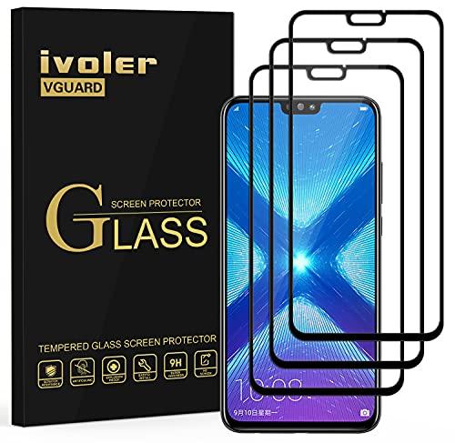 iVoler [3 Pack] Pellicola Vetro Temperato per Huawei Honor 9X Lite/Huawei Honor View 10 Lite, [Copertura Completa] Pellicola Protettiva Protezione per Schermo per Honor 9X Lite/Honor View 10 Lite