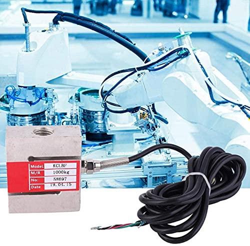 YUIOLIL Sensor de celda de Carga de báscula electrónica, 1000 / 2000kg Sensor de pesaje de báscula de Alta precisión con Cable para medición de Peso de precisión Pesaje electrónico