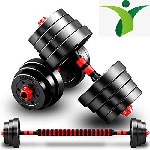 Mancuerna con Placa De Peso Ajustable, Fitness En Casa, Kit De Fitness con Barra para Uso Combinado,10kg (5kg*2pcs)