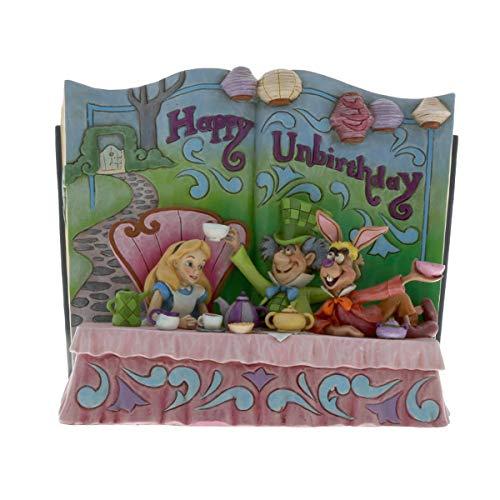 """Disney Traditions, Figura con forma de libro de """"Alicia en el País de las Maravillas"""", para coleccionar, Enesco"""