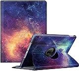 Fintie Hülle für iPad 10.2 Zoll 9.Generation / 8. Gen / 7. Gen (Modell 2021/2020/2019) mit Pencil Halter - 360 Grad Rotierend Stand Schutzhülle Cover mit Auto Schlaf/Wach Funktion, Die Galaxie