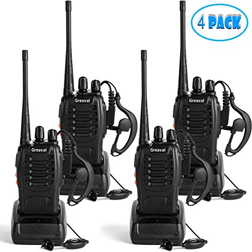 Greaval Rechargeable Walkie Talkies 4 Pack Long Range 2 Way Radio...