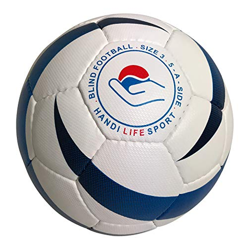 Handi Life Sport | Blue Flame | The Official Paralympic IBSA Soccer Ball | 5-a-Side Football for The Blind (B1) | Adaptive Sports