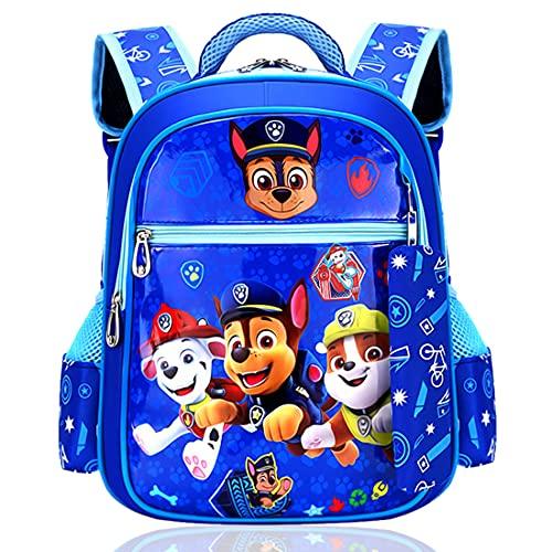 Tomicy Paw Patrol Kinderrucksack Paw Patrol Rucksack Kinderrucksack mit Taschen Chase Marshall Rubble für Jungen Rucksack