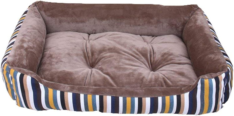 HeiPlaine Pet Sofa Dog Bed Cat Bed Pet Bed Sofa Comfortable Short Plush Cushion Dogs Cats Pets Nest (color   002, Size   90  70  15cm)