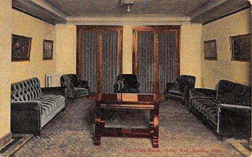 Pueblo Colorado Hotel Vail Reception Room Antique Postcard K84583