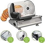 Brotschneidemaschine | Brotschneider | Allesschneider | Bread Slicer | Schneidegerät | 150 Watt | Edelstahlklinge Ø190 mm | Schneidestärke 0-15 mm - 3