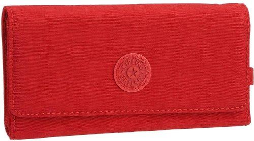 Kipling BROWNIE K13865100, Damen Geldbörse, rot, (Red 100), 19 x 10 x 3