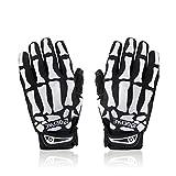 Skeleton Gloves for Women Men Anti-Slip Gel Padded Skull Gloves for Cycling Riding Motorcycle Ski Outdoor Sport 4 Sizes 2 Colors