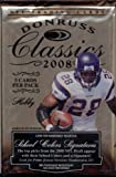 1 (One) Pack - 2008 Donruss Classics Football Hobby Pack (5 Cards per Pack) - Possible Matt Ryan, Matt Forte, Chris Johnson, Joe Flacco, DeSean Jackson, Darr... rookie card picture