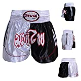 Muay Thai Boxing Kick Boxing Martial Arts Shorts Pink Black Shorts (M)
