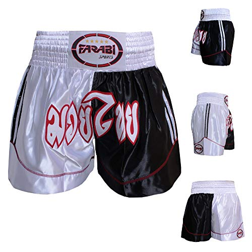 Farabi Muay Thai Kickboxing Short Training Satin Boxing Trunk (M)
