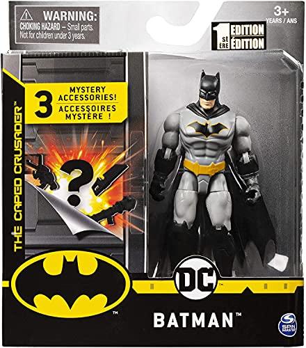 Dc Comics Batman – Articulated Figurine 10 cm + 3 Mystery Accessories – Batman Rebirth