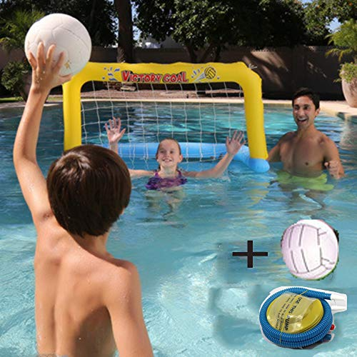 YOUTH BURST Aufblasbarer Pool Schwimmball-Set Volleyballnetz Und Basketballkorb, Einschließlich Ballschwimmspielzeug Für Kinder Und Erwachsene, Schwimmball, Sommerblumenball, Volleyballfeld