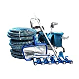 Large Swimming Pool Sump Pump Kit Portable Manual Pool Vacuum Cleaner Equipment 7 Packages to Choose Cleaner f Spas Ponds Inground Pools and Pond Fountain (Color : Package 7)