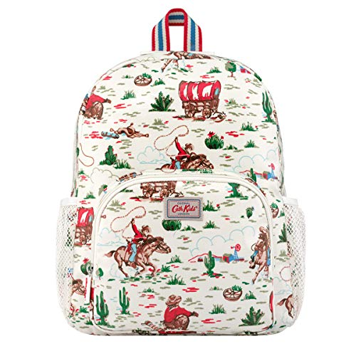 Cath Kidston Large Backpack Rucksack Cowboy in Cream Oilcloth