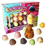 Mymiyou Eiscreme Stacking Tower Balance Spiel Essen Pretend Spiel Spielzeug Set für Kinder