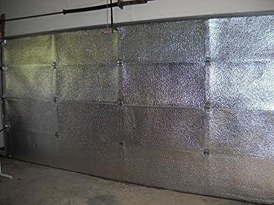 NASA Tech White Reflective Foam Core Garage Door Insulation Kit16L x 8H 5 panel