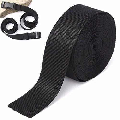 Bazaar 5cmx10m Zwart Nylon Stof Webbing Tape Voor het maken van Riem Tas Band