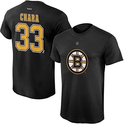 Outerstuff NHL Youth Team Color Player Name and Number Jersey T-Shirt (Zdeno Chara, X-Large 18/20)