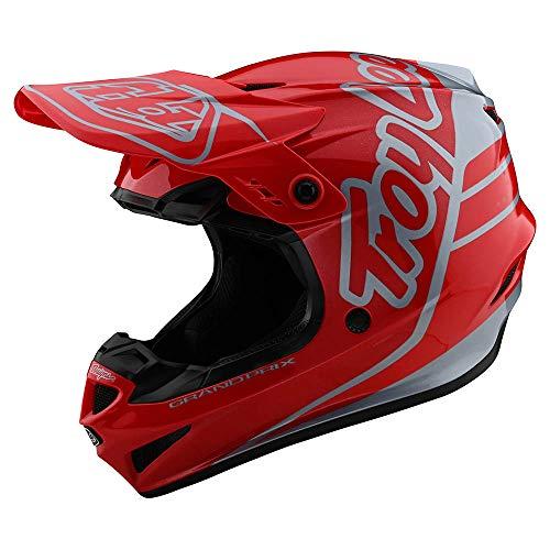 Troy Lee Designs GP Silhouette Casco Motocross Rosso/Argento XS