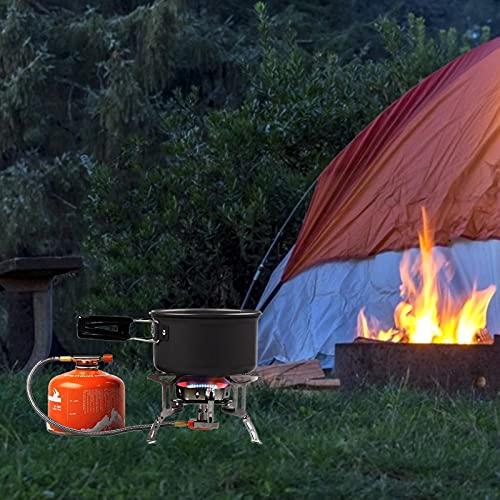 Hemisgin Juego de Utensilios de Cocina para Campamento Juego de ollas de Camping livianas y portátiles para Exteriores Juego de Utensilios de Cocina para Acampar Juego de Cocina Plegable Ingenious