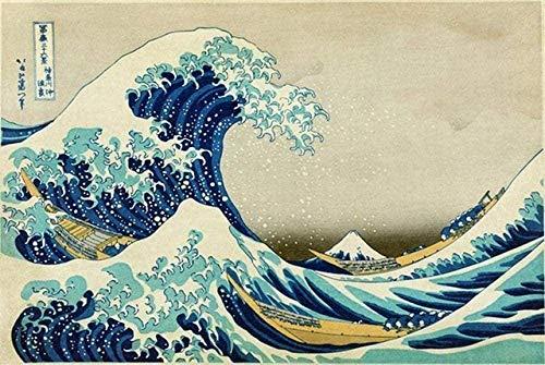 Puzzles Adultos 1000 Piezas Rompecabezas Ukiyoe 36 Vistas De La Gran Ola Frente A Kanagawa Hokusai Uego Casual De Arte Diy Juguetes Regalo Interesantes Amigo Familiar Adecuado