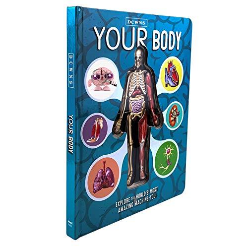 MiaoKa Anatomia do Corpo Humano, Livro Popular de Ciências em Inglês, Livro 3D, Livro de Educação Precoce para Crianças