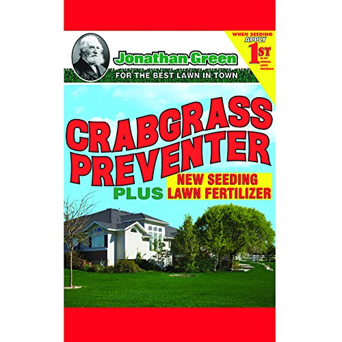 Jonathan Green 10465 Crabgrass Preventer Plus New Seeding Lawn Fertilizer, 15 lbs.