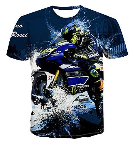 Hawaiihemd heren Funky Casual T-shirt unisex korte mouwen motorfiets T-shirts
