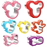 Mickey Cookie Cutter set, Mickey Head, Minnie head, Glove, Shoe, Bows Shapes Sandwich Cutters Cookie Cutters -Food Grade Cookie Cutter Mold for Kids (7Pack)