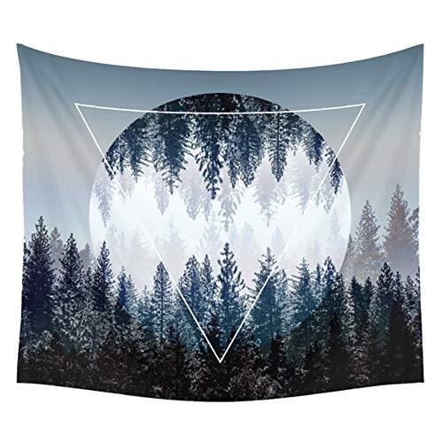 Mandala Cielo Nocturno decoración de la Pared decoración de la Pared Bosque Cielo Estrellado Tapiz Nocturno Sala de Estar Dormitorio Bohemia 130X150CM