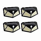 4 Paquete Luz Solar Exterior222 LED Foco Solar Exterior con...