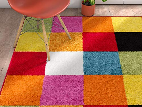 Well Woven Modern Rug Squares Multi Geometric Accent 3'3 ...