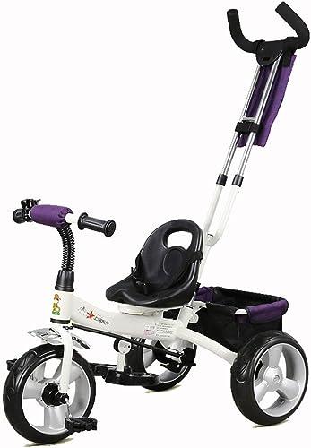 ventas en linea YUMEIGE triciclos Triciclo para Niños 1-5 años de Edad Edad Edad Regalo de cumpleaños Triciclo para bebés con Mango de Empuje Carga (Peso de Carga 25kg Disponible (Color   blanco)  buen precio