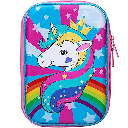 Pencil Box for Girls, Kids Cute Unicorn Pencil Case