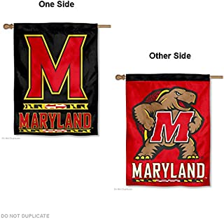 College Flags and Banners Co. Maryland Terps Dual Logo Double Sided House Flag