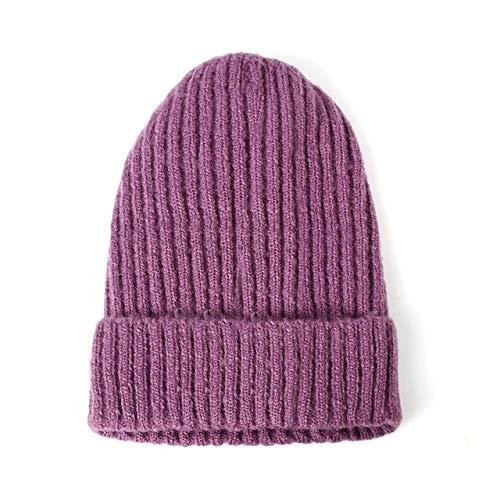 New Womens Beanie Hat warm Autumn Women Knit Beanie Hat Cuff Beanie Watch Cap for Girls Spring Skull Hats for Female-a4