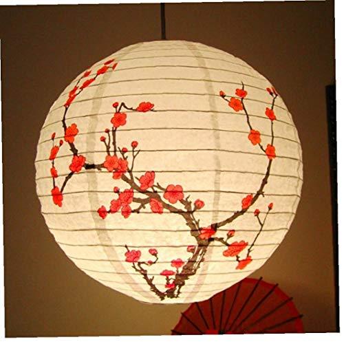 35 Cm Rojo Blooming Flor del Ciruelo Flores Colgantes De Papel Japonés Chino Lámparas Linterna De Fiesta De Navidad Decoración Decoración Festival De Primavera