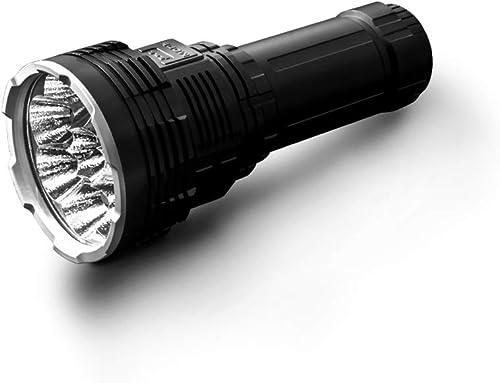 Hengyuanyi Imalent DX80 Lampe torche LED ultra lumineuse 32000 lumens avec batterie intégrée 806 mètres, 18650 rechargeable pour sports de plein air, autodéfense