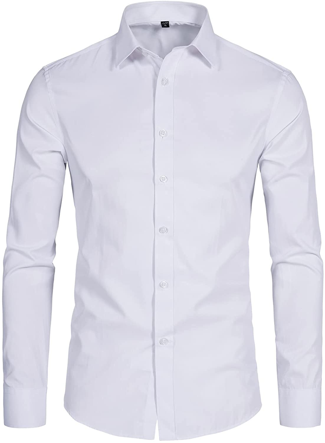 DELCARINO Men's Long Sleeve Button Up Slim Shirts Brand new Casu Regular discount Solid Fit