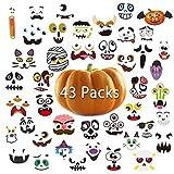 Halloween Pumpkin Sticker 43 Packs Pumpkin Decorating for Kids Halloween Pumpkin Face Stickers Craft Party Favor