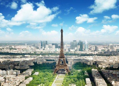 Regulär Preis 69,95 EUR! AKTION! BEGRENZTE STÜCKZAHLEN! 87005 Fototapete SELBSTKLEBEND Breite 272cm / Höhe 198cm, 8 Teile Eiffel Tower wieder ablösbar Tapete Poster Wandposter Bildtapete photo mural