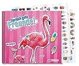 Freundebuch Schule für Mädchen [Flamingo] Hardcover Poesiealbum, liebevoll und witzig gestaltet - mit bunten Stickern! von Lernfreunde by Häfft   nachhaltig & klimaneutral