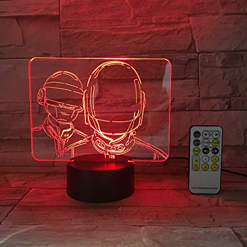 Cartoon DIY PUBG Survival Gun Shot Game Character Figure Night Light 3D USB Acrylic Color Change Gradient Atmosphere Lamps Lighting Decoration