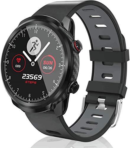 SmartWatch,Fitness-Tracker Touchscreen für Herren Damen SmartWatch wasserdichte Uhr mit Herzfrequenzmesser Schrittzähler Schlafmonitor Stoppuhr kompatibel mit Android iOS (Gray)