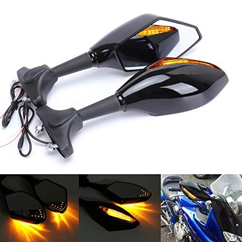 Taben Motorrad LED-Blinker mit integriertem Blinker, Rückspiegel für Rennrad, Sport